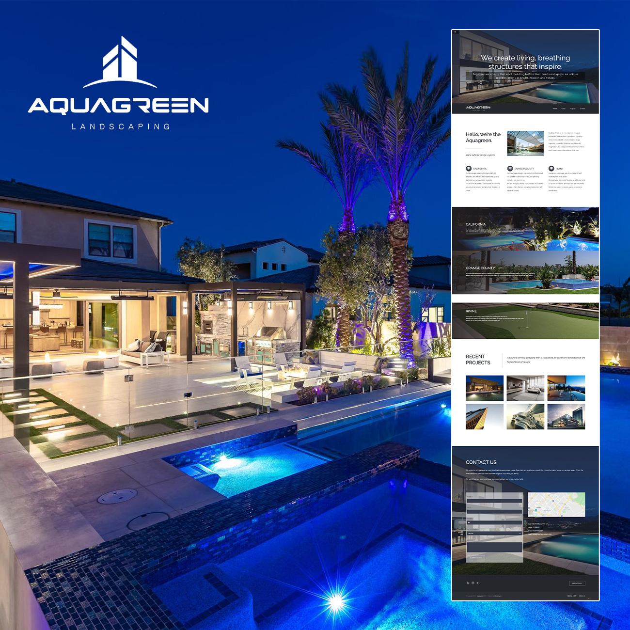 AQUAGREEN Landscaping 公司品牌设计及网站建设